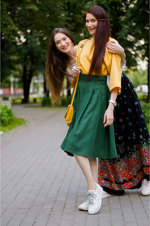 black idaLaida skirt - forest green idaLaida skirt - gold idaLaida blouse