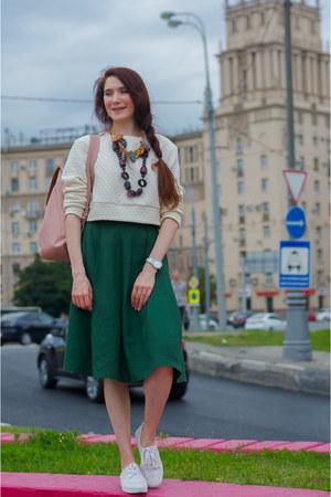 off white asoscom sweater - forest green idaLaida skirt