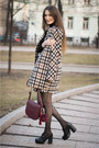 Dark-brown-idalaida-coat-crimson-mango-bag-burnt-orange-idalaida-skirt