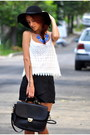 hat - bag - shorts - top - accessories