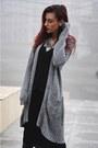 Gray-accessories-gray-cardigan