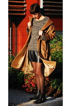 bronze Zara coat - black REPLAY boots - light brown Isabel Marant jumper