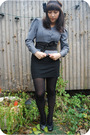 Gray-emmanuelle-khanh-jacket-black-h-m-skirt