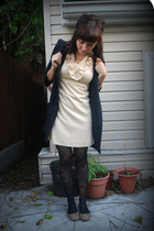 vintage dress - kensiegirl jacket - f21 tights