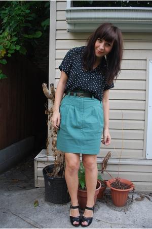 H&M skirt - thrifted blouse