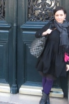 Forever21 coat - HUE tights - scarf - Blowfish boots