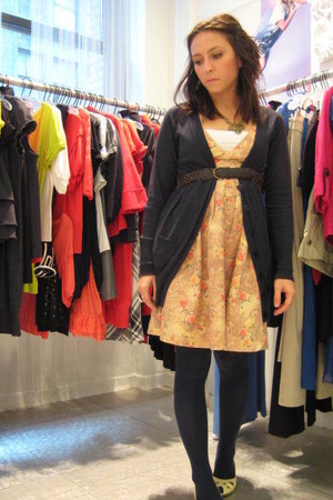 forever love accessories - UO belt - kensiegirl dress - forver 21 sweater - Targ
