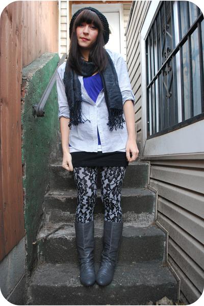 black kensiegirl leggings - gray f21 shirt