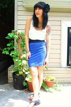 forever 21 t-shirt - kensiegirl skirt - Dolce Vita shoes - DIY