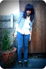 Gray-cheap-monday-jeans-gray-seychelles-shoes-beige-uo-cardigan-white-vint