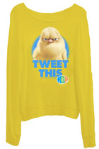 TWEET THIS Baby Chick Loose Fitting Slouchy Sweater Tshirt Top