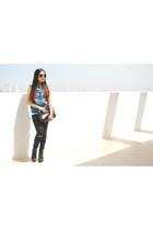 canvas Astrix Chunky boots - black denim Jamie Jeans jeans