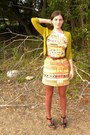 Black-madewell-shoes-orange-tracy-reese-dress-chartreuse-jcrew-sweater