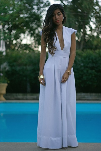 white wide leg claire ward jumper