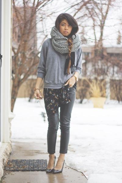 faux leather H&M pants