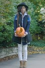 Dark-gray-oversized-zara-vest-black-wool-duluth-trading-company-hat