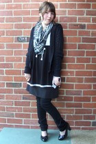 Glassons top - trendz dress - - supre pants - thrifted shoes