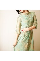 light blue iheartfink dress