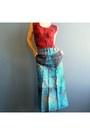 Turquoise-blue-iheartfink-skirt