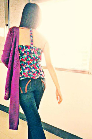 jeans - Forever 21 top - Lovechild cardigan