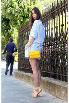 yellow Marc Jacobs purse - light blue Carven shirt - light blue Samse shirt