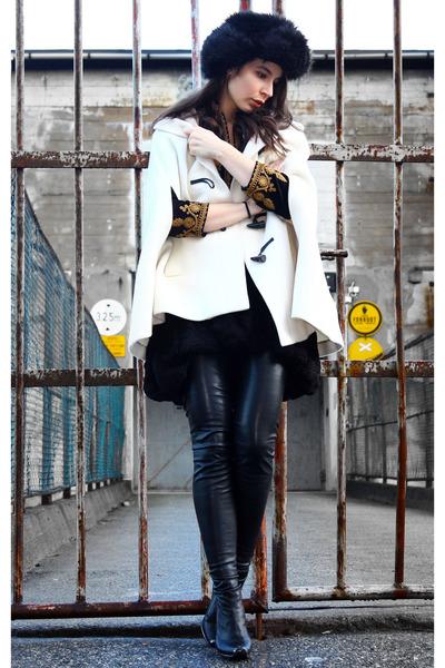 black H&M jacket - black Stella McCartney boots - black Stella McCartney dress