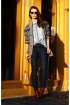 deep purple Vailant sweater - tawny Alexander Wang boots - navy H&M leggings