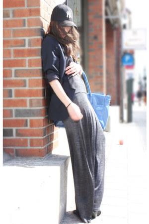 gray Alexander Wang dress - navy lanvin blazer