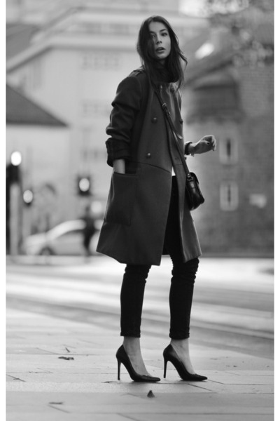 dark khaki H&M coat