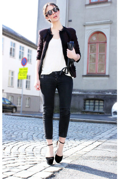 Nanette Lepore blazer - Diesel jeans - Bianco heels