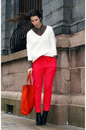 H&M pants - Alexander Wang boots - H&M Trend sweater - fillipa k shirt