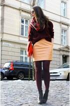 nude H&M Trend skirt - black Alexander Wang boots - crimson Ralph Lauren sweater