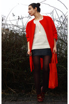 crimson Marc by Marc Jacobs loafers - red H&M Trend coat - cream H&M sweater
