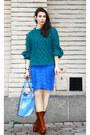 Tawny-alexander-wang-boots-blue-burberry-dress-green-h-m-trend-sweater