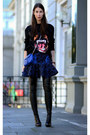 Black-givenchy-sweater-blue-stella-mccartney-skirt