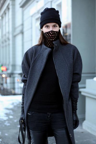gray H&M Trend coat - black Alexander Wang sweater