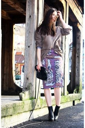magenta daniel silver for acne skirt - black Alexander Wang boots