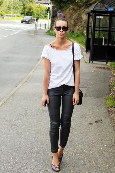 H&M pants - McQueen pumps - handmade t-shirt