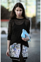 white Skirt skirt - black COS sweater