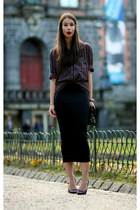 black H&M skirt - black vintage shirt
