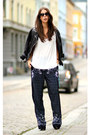 Black-muuba-jacket-ivory-alexander-wang-top-navy-h-m-trend-pants