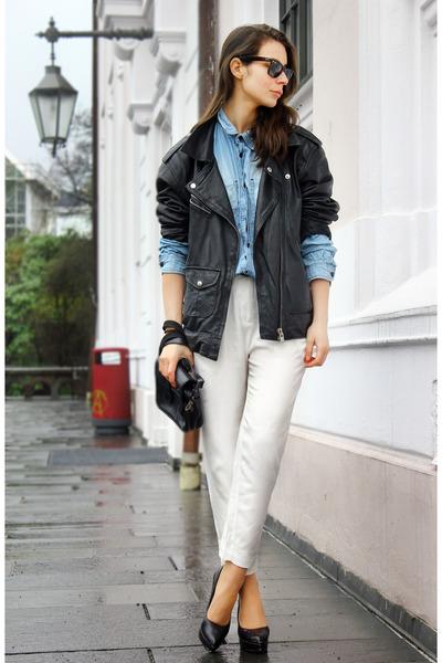 black Vailant jacket - sky blue pocoloc shirt