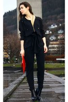 navy By Malene Birger romper - black Alexander Wang boots