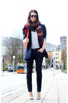navy lanvin blazer - black Diesel jeans - silver GINA TRICOT sweater