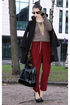 crimson lindex pants - black Marc by Marc Jacobs coat