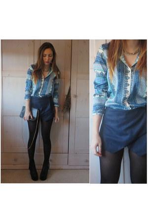 Ebay boots - Zara shirt - Sheinsidecom shorts