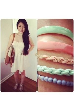 bracelet - dress - bag - sandals