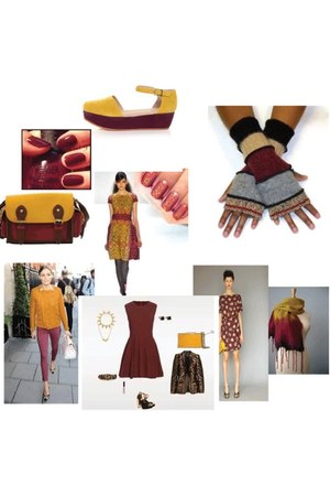 red and yellow unkown gloves