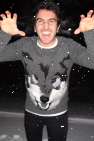 Gray H&m Sweater Black