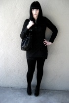 Old Navy dress - random tights - Aldo purse - le chateau shoes